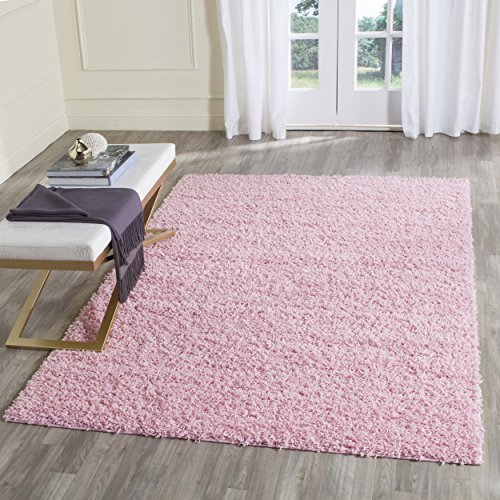 Safavieh Athens Shag Collection SGA119P Pink Area Rug (5