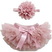 18 Colors Tutu Diaper Cover 0-24 Months Newborn and Baby Girl TUTU Bloomers & Headband Set
