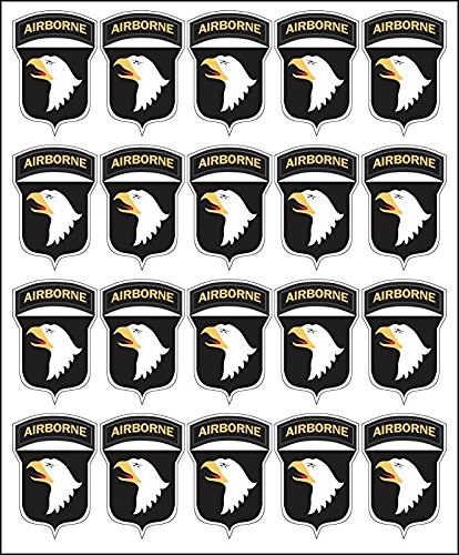 Vinyl USA Army 101st Airborne Division Patch 20x2 Peel and Stick Decals