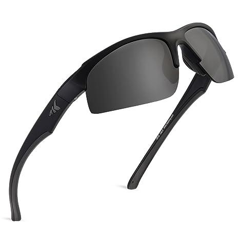 9ac932ed2a9d KastKing Cuivre Polarized Sport Sunglasses, Matte Blackout Frame,Smoke Lens