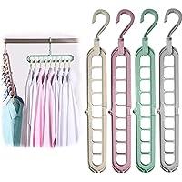 BITEFU 12 stuks 9-in-1 kledinghanger ruimtebesparende 360° draaibare Magic kleerhanger, meerdere hangers Cascading…