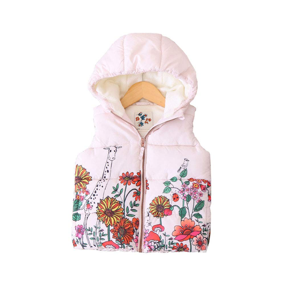 LOSORN ZPY Baby Girl Hooded Snowsuit Toddler Winter Warm Puffer Quilted Down Bunting Snowsuit with Gloves