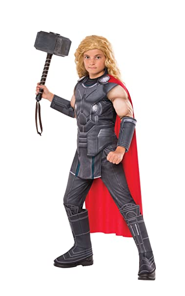 Rubieu0027s Thor Ragnarok Childu0027s Deluxe Thor Costume ...  sc 1 st  Amazon.com : child thor costume  - Germanpascual.Com