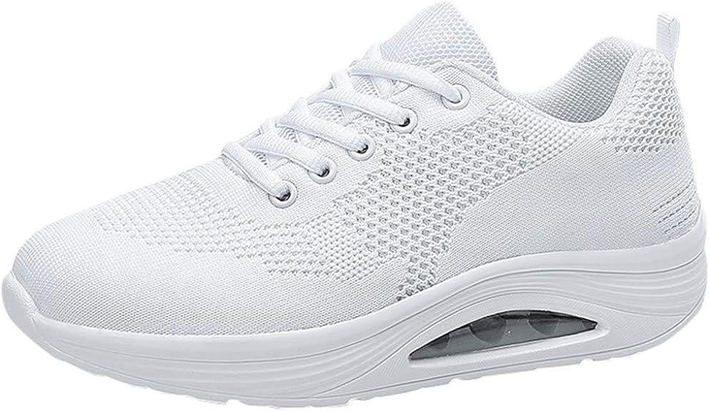 MrTom Zapatillas de Running para Mujer Zapatos de Deporte con Cordones Zapatillas Deportivo para Caminar Correr Gimnasia Calzado de Trabajo Air Cushion Sneakers Mesh Transpirable Ligero: Amazon.es: Zapatos y complementos