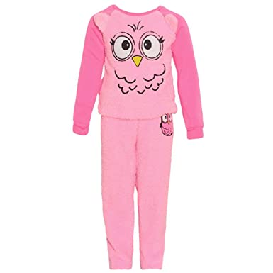 dELIA s girl Little Girls Pink Cute Owl Print Long Sleeve Top Soft 2 Pc  Pajamas Set 5571c6afc