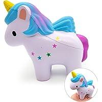 VSTON Unicorno Squishy Lento Rising Jumbo Kawaii Giocattolo Squishy Profumato Spremere Sollievo dallo Stress per Bambini Collezione Squishies Ragazze Regalo