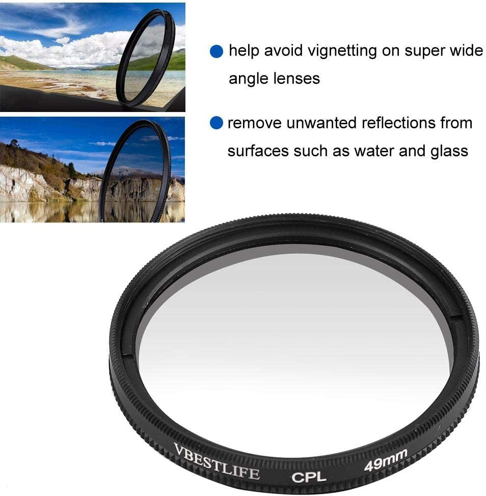 Ultra-Thin Mini Sports Camera Multi-Coated UV Lens Filter for DJI OSMO Action V BESTLIFE UV Lens Filter for Mini Sports Camera