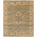 """Ecarpetgallery Hand-knotted Heirloom Open Field 8'2"""" x 9'9"""" Blue 100% Wool area rug"""