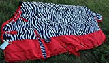 Challenger 78'' 1200D Turnout Waterproof Horse Winter Blanket Heavy Weight Zebra 549