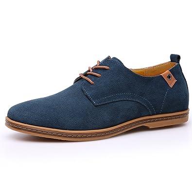 DADAWEN Chaussures de ville homme cuir Suede Oxfords YLWVgs