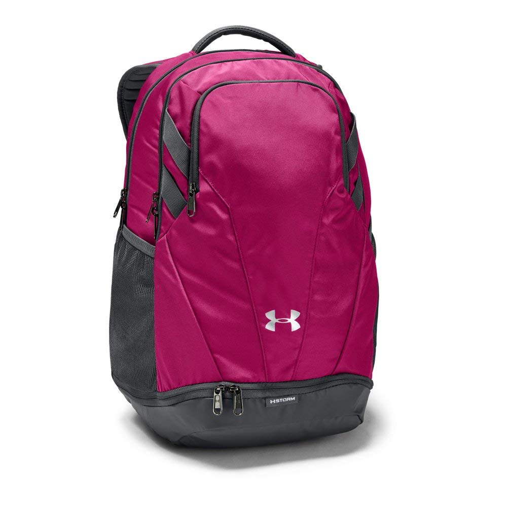 Under Armour Team Hustle 3.0 Backpack, Tropic Pink (654)/Silver, One Size Fits All by Under Armour