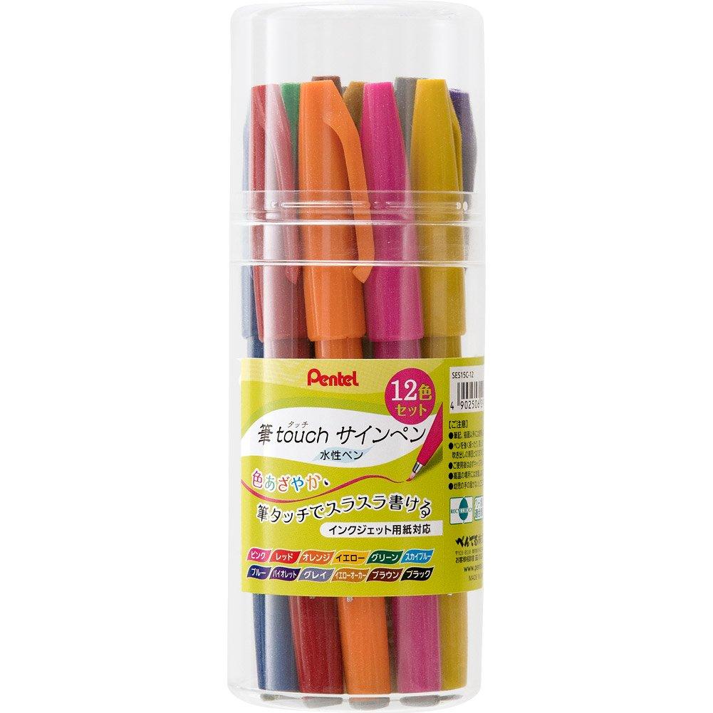 Pentel stylet feutre couleur 12 ensemble SES15C-12 (japan import)