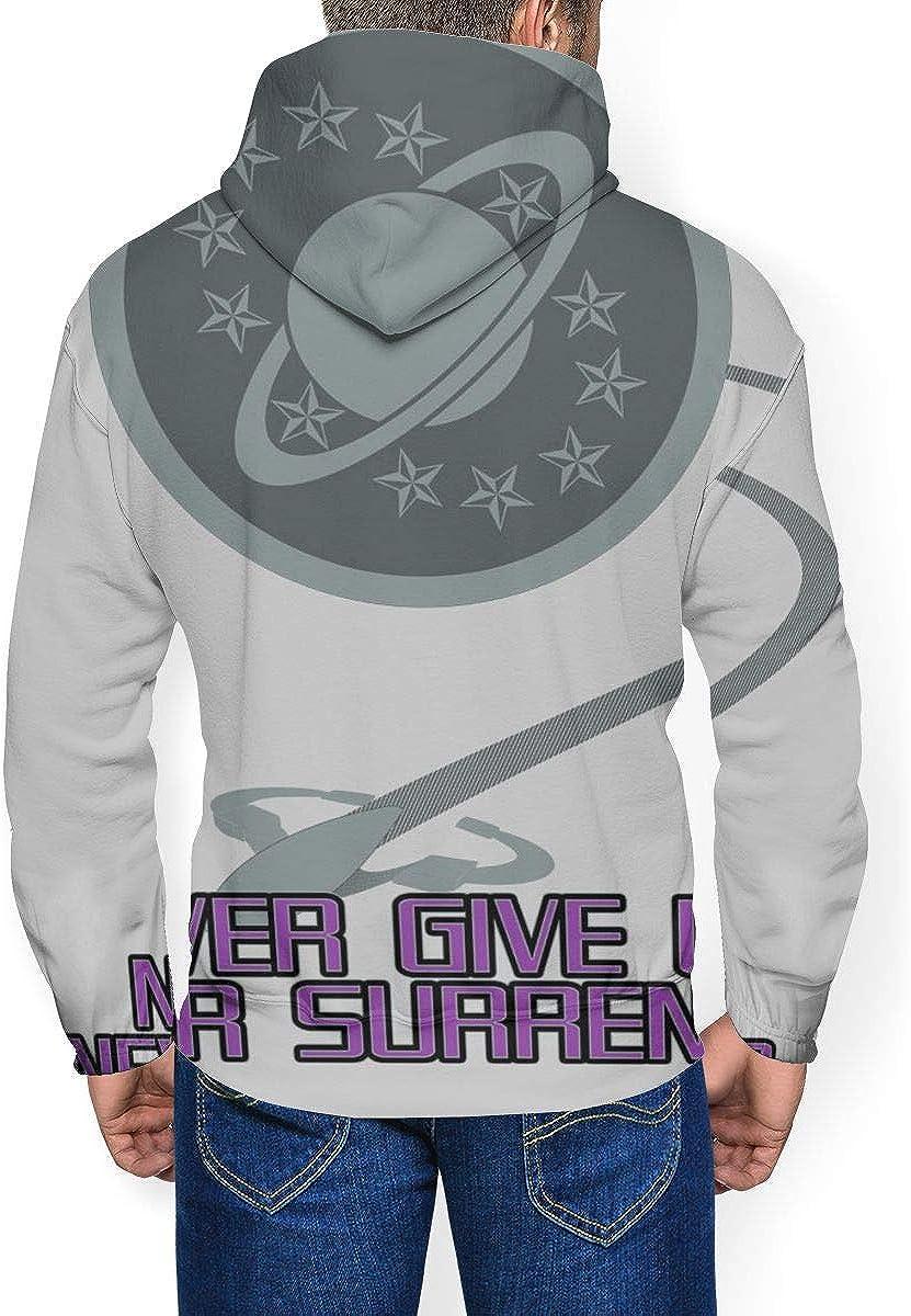 Galaxy Quest Never Give Up Never Surrender Herren Fashion Sweatshirt Kapuzenpullover Taschen Plus Samt Schwarz
