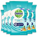 Dettol Multi-Purpose Disinfectant Wipes Tropical, 720 Count, Pack of 6