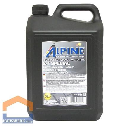 Alpine Mitan 2-T - Aceite para Motores de 2 Tiempos (5 l): Amazon ...