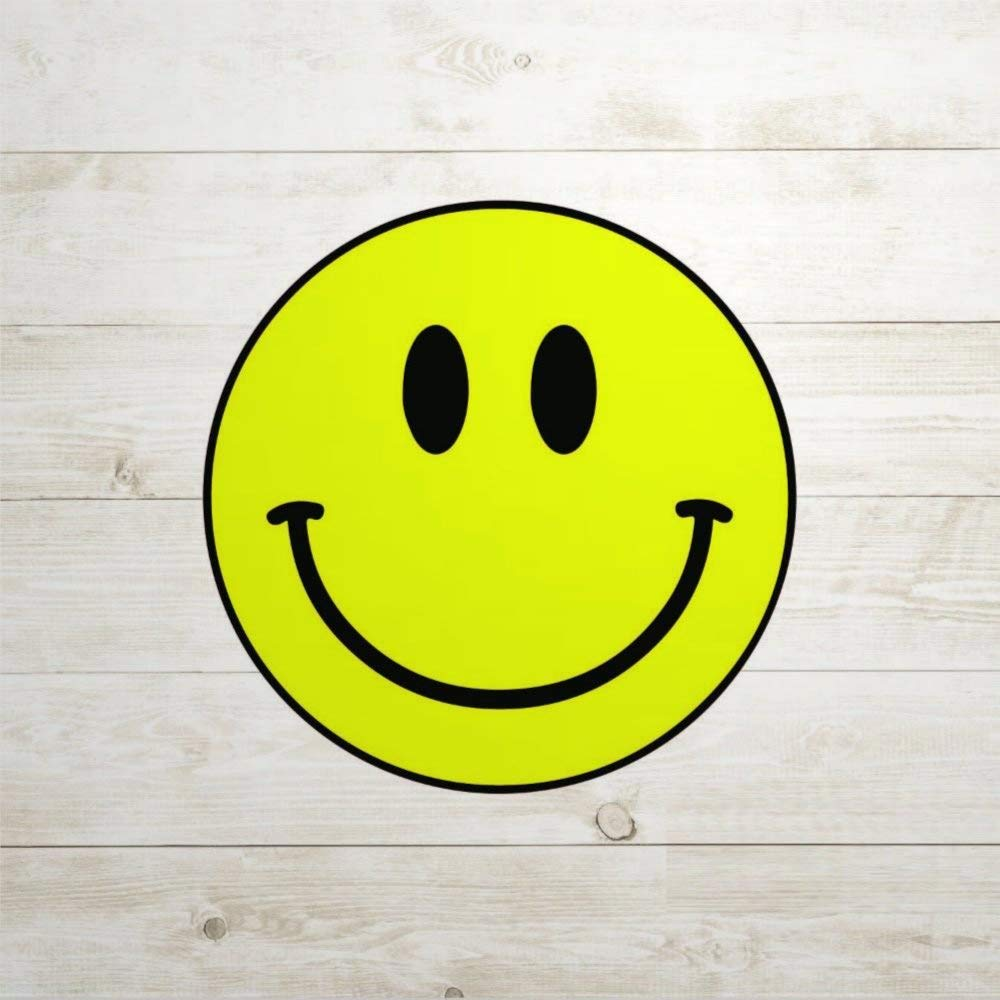 Smiley Face Happy auto Sticker,Vinyl Car Decal,Decor for Window,Bumper,Laptop,Walls,Computer,Tumbler,Mug,Cup,Phone,Truck,Car Accessories