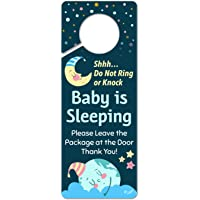 FunPlus Baby Sleeping Sign - Do Not Knock or Ring - Plastic Door Knob Hanger Sign