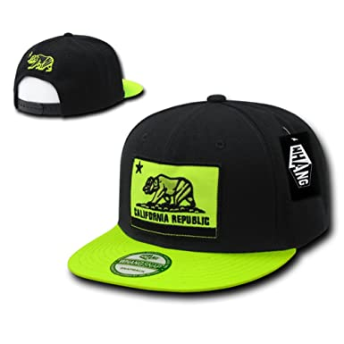 88667ad043c Image Unavailable. Image not available for. Color  CALI Flag Snapback Hat  Adjustable