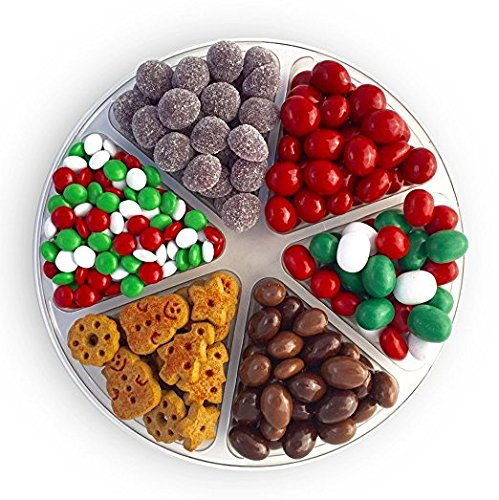 Christmas Gift Platter - Gingerbread Cookies, Christmas Marshmallows,