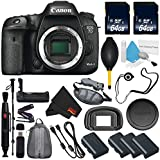 6Ave Canon EOS 7D Mark II DSLR Camera International version (No Warranty) + Lens Pen Cleaner + Battery Grip Wildlife and Sports Photography Bundle nasd8723hazzz