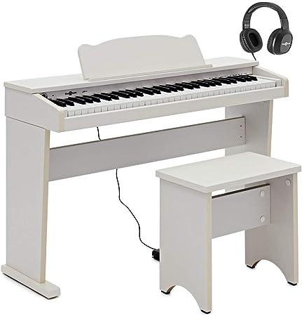 JDP-1 Junior - Piano digital con auriculares, color blanco