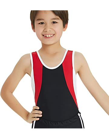 841943935 Boy's Gymnastics Leotard Toddler Ballet Dance Practice Atheletic  Competition Training Tank
