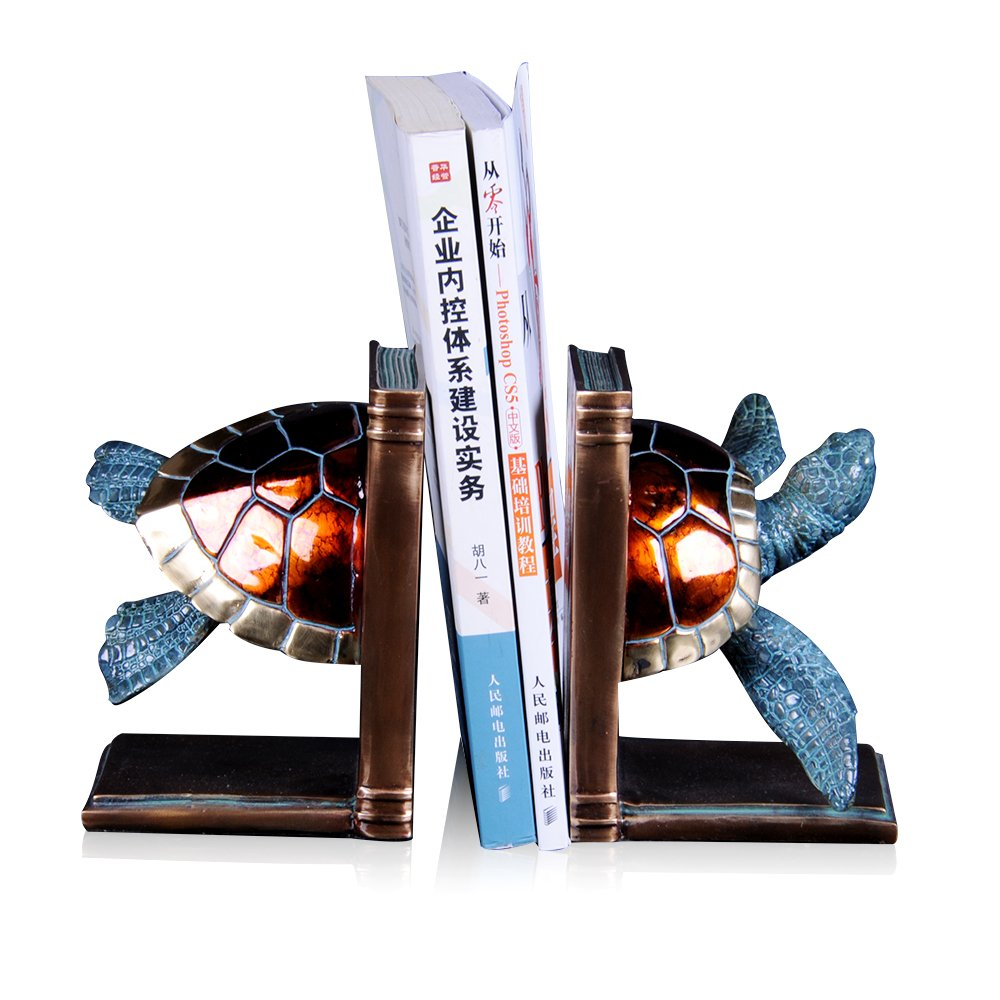 Gift collection Bronze Sea Turtle Bookends Pair Vintage and Unique Bookend Support for Decoration