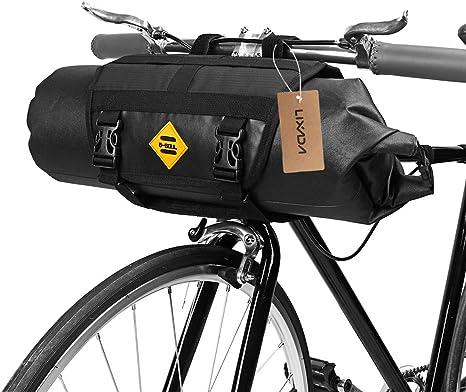 Lixada Bolsa de Manillar para Bicicleta Impermeable Capacidad ...