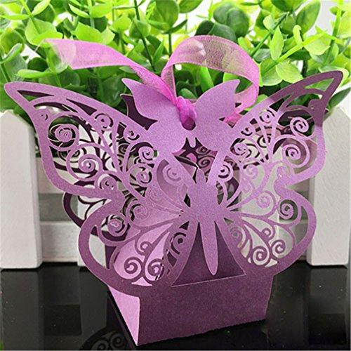 10Pcs/Candy Box Wedding Gift Butterfly Decorations For Weddi