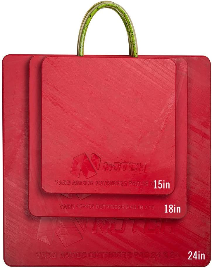 """Notch Yard Armor Outrigger Pad 24"""" x 24"""", Red"""