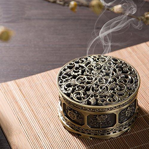 MEDOOSKY Tibetan Copper Alloy Incense Holder Burner(Stick/Cone/Coil Incense) - incensecentral.us