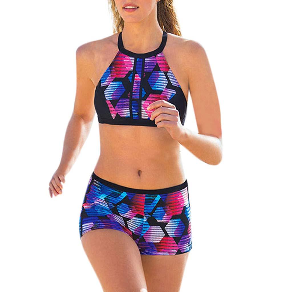 Printed 2 Pieces Bikini Set Swimwear Bathing Suit Swimsuit Beach Wear Cover up