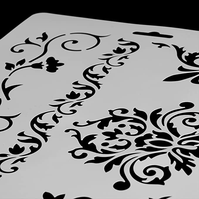 Die Scrapbooking Dekorative Anstrichschablone Pr/ägen Papierkarten Malen FXCO DIY Fertigkeit-Spitze-W/ände