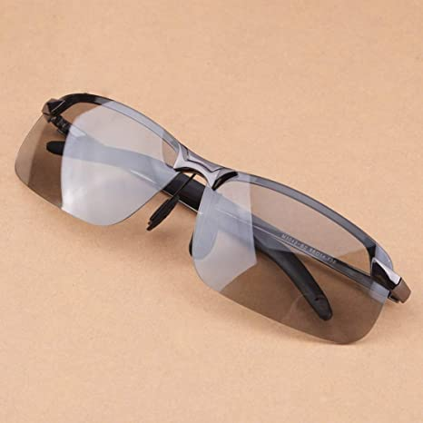 Men Photochromic Lens Polarized Sunglasses Outdoor Driving Fishing UV400 Glasses