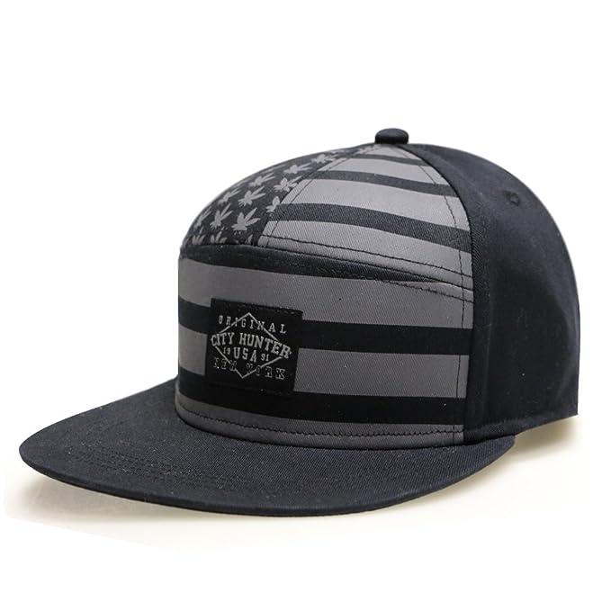 ae903be30c624 City Hunter Cs441 USA American Flag 7 Panel Snapback Hats - Black at ...