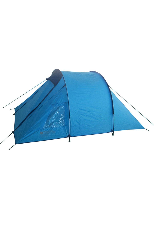 Mountain Warehouse Weekender 3-Personen-Zelt - Zeltboden, Eingangsbereich, wasserabweisendes Familienzelt, atmungsaktives Schlafzelt - Für Bergwandern, Sommerfestivals