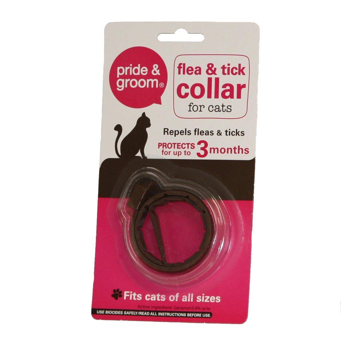 Pride & Groom - Collar universal para gatos y gatos con tratamiento de repelente de pulgas y garrapatas (3 meses): Amazon.es: Productos para mascotas