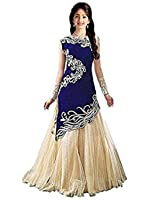 Fashion Vogue Girls Net Salwar Suit Sets (!B_Zoya Blue _Multi-Coloured _11-12 Years)