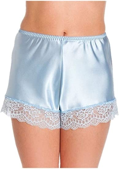 Ladies satin sizes 8,10,12,14,16 Red Patterned Sleep shorts//French Knickers