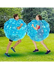 SUNSHINEMALL 2 PC Bumper Balls, Inflatable Body Bubble Ball Sumo Bumper Bopper Toys, Heavy Duty Durable PVC Vinyl Kids Adults Physical Outdoor Active Play (36inch, 2pcs red+Blue)