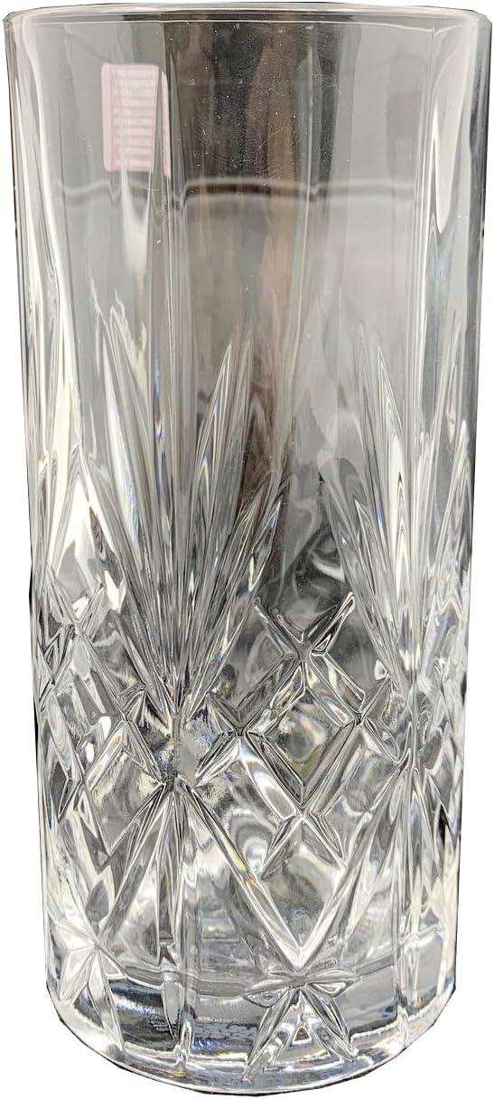 von RCR Cristalleria Italiana Friedrichs Dry Gin 4X Gl/äser Melodia Highball Glas 36cl Longdrinkgl/äser mit Friedrichs Logo im Boden