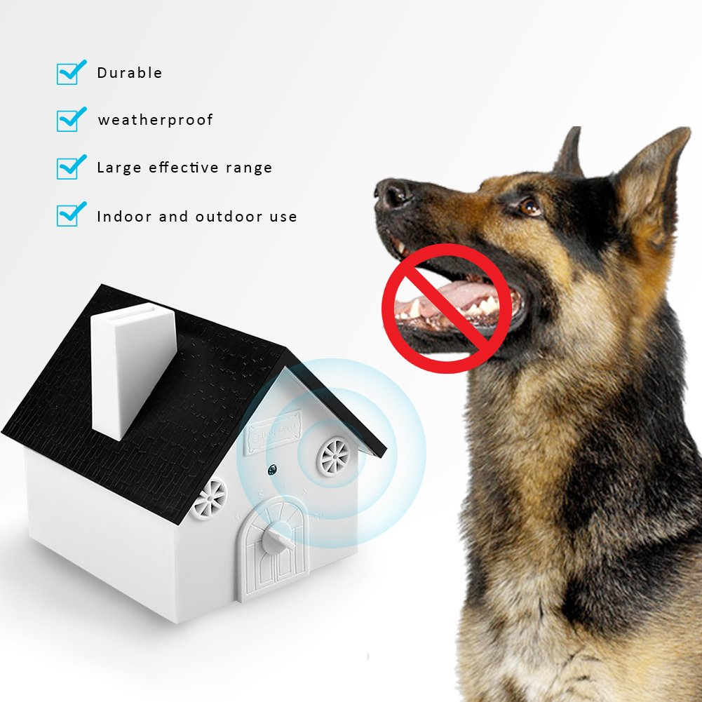Mallalah Ultrasonido Detener Dispositivo de Ladrar Dispositivo Barking para Entrenamiento de Mascota Sin daños a Mascota y Humanos, Fácil suspensión/Montaje ...