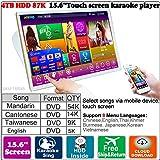4TB HDD 87K Chinese songs (Mandarin,Cantonese,Taiwanese) English Songs 15.6'' Desktop TSR Touch screen karaoke player,Cloud Download, 觸摸屏,卡拉OK 播放器,云下載,國語+粵語+台語+英語
