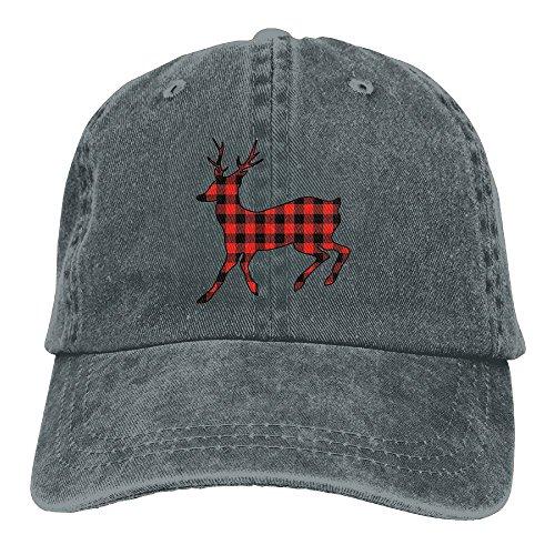 FBGVFD Plaid Moose Buffalo Baseball Caps Cute Top Level Snapback Hat For (Halloween Beards Canada)