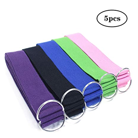 WYQWAN Yoga Strap - Durable Cotton Exercise Straps ...