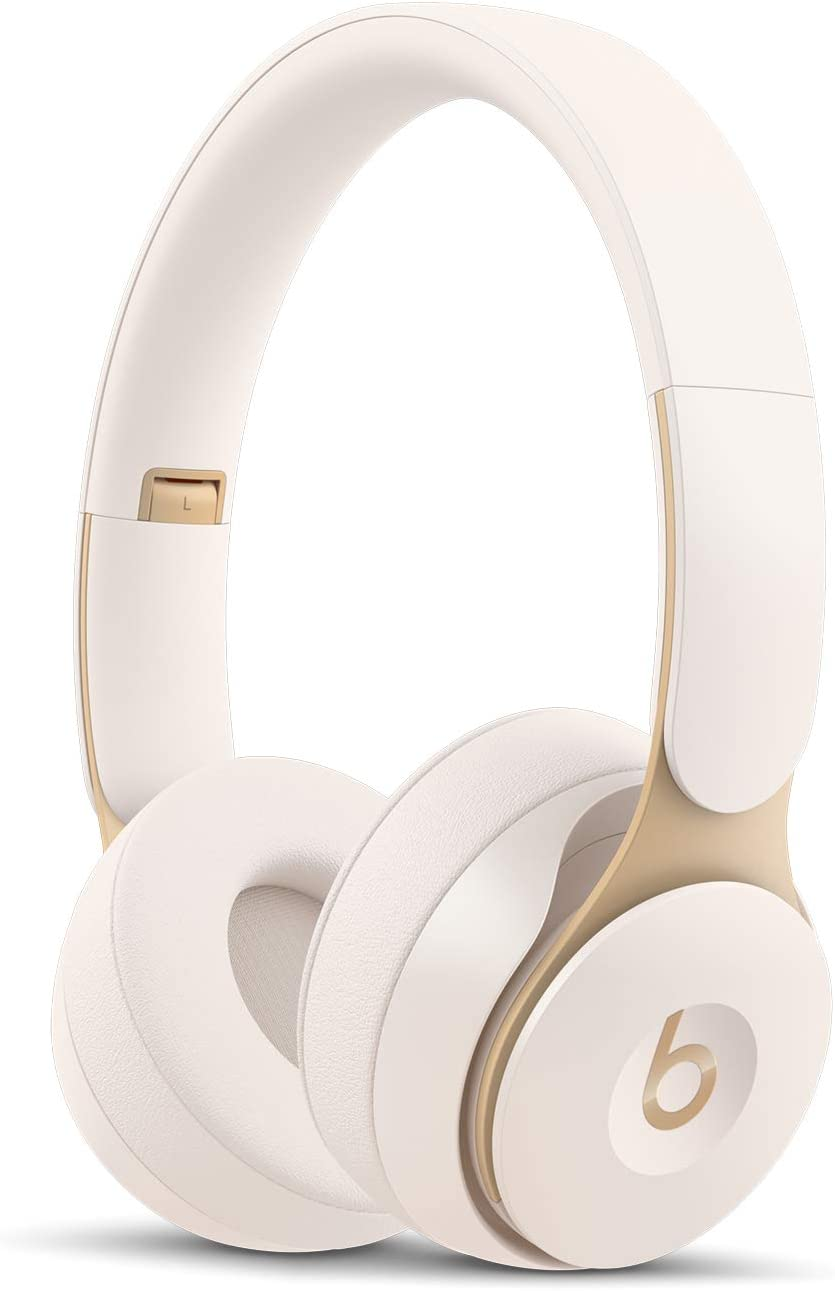 Beats Solo Pro Wireless Noise Cancelling On-Ear Headphones - Apple H1 Headphone Chip, Class 1 Bluetooth, Active Noise Cancelling, Transparency, 22 Hours Of Listening Time - Ivory