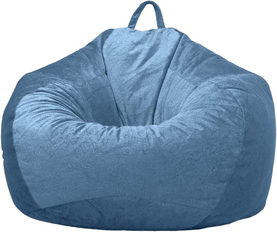 Homyl Poltrona a Sacco Copertura Sedia a Sacco Copri Bean Bag Blu #1 Fodera Bean Bag Pouf Cover