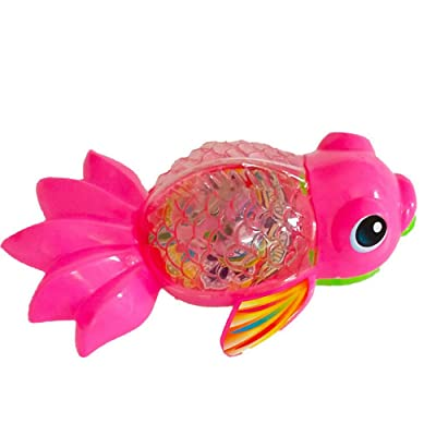Kanzd Baby Bath Toy, Swimming Turtle, Floating Wind-up Bathtub Pool Clockwork Toys Cute Water Play for Kids Boys Girls (B): Clothing