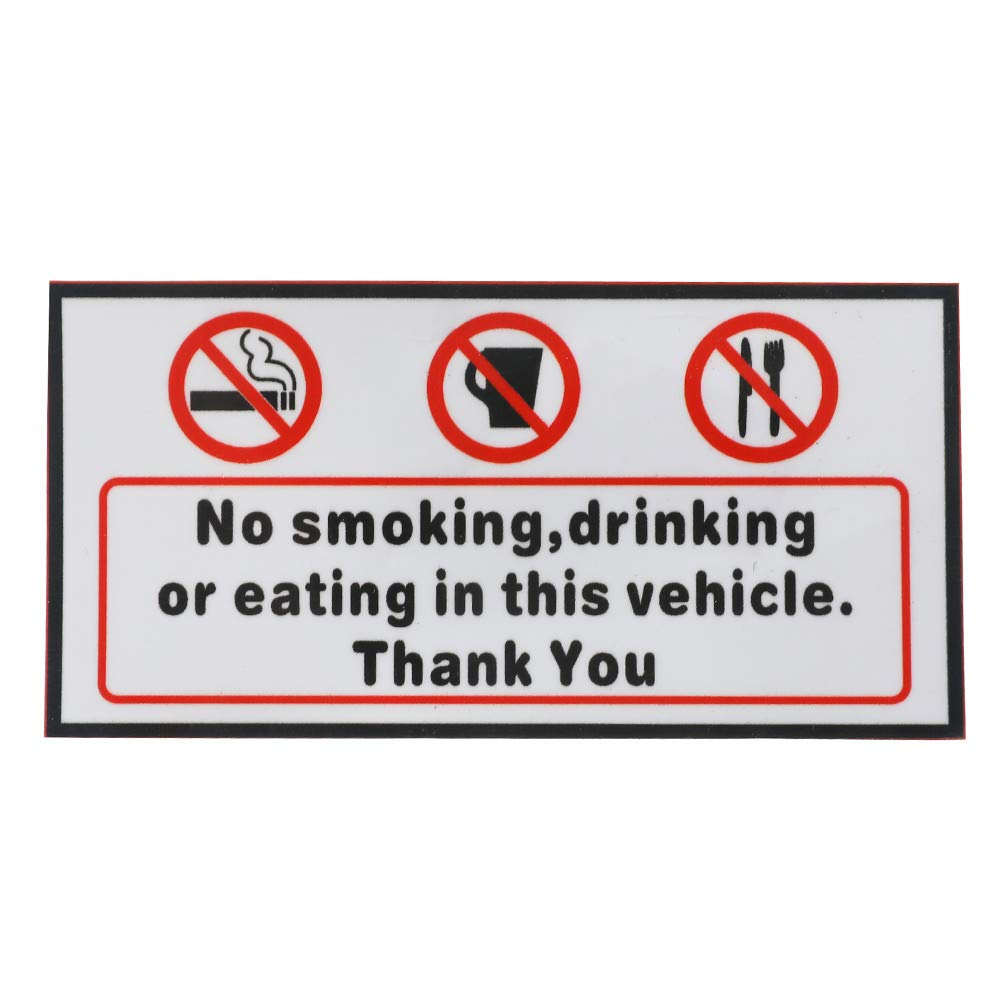 amazon com voraca vinyl decal no smoking eating drinking in this rh amazon com Ford Van Bus School Bus Van