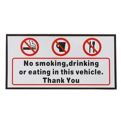 amazon com voraca vinyl decal no smoking eating drinking in this rh amazon com School Bus Yellow School Bus